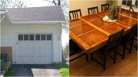 Come riciclare una vecchia porta di legno e realizzare un tavolo di design