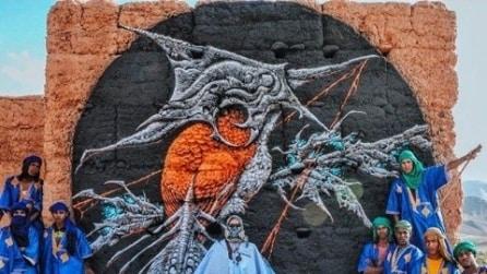 Street art: gli artisti americani dipingono il deserto del Marocco