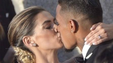 Il matrimonio di Melissa Satta e Kevin Boateng: il look degli sposi