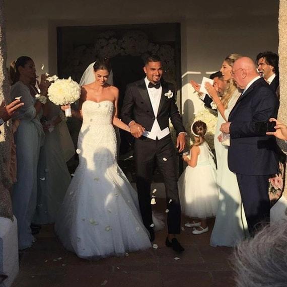 Gli sposi al termine della cerimonia