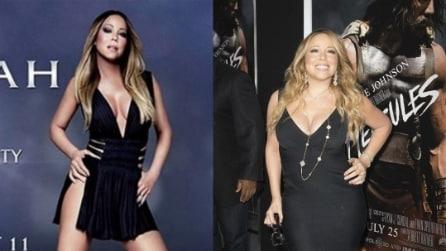 Mariah Carey prima e dopo Photoshop