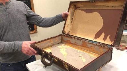 Prende una vecchia valigia e la ricicla: ciò in cui la trasforma vi lascerà a bocca aperta