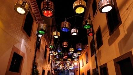 Come trasformare i cestelli della lavatrice in originali lampioni urbani