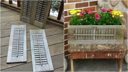 Come riciclare le persiane di legno per creare vasi per piante fai da te