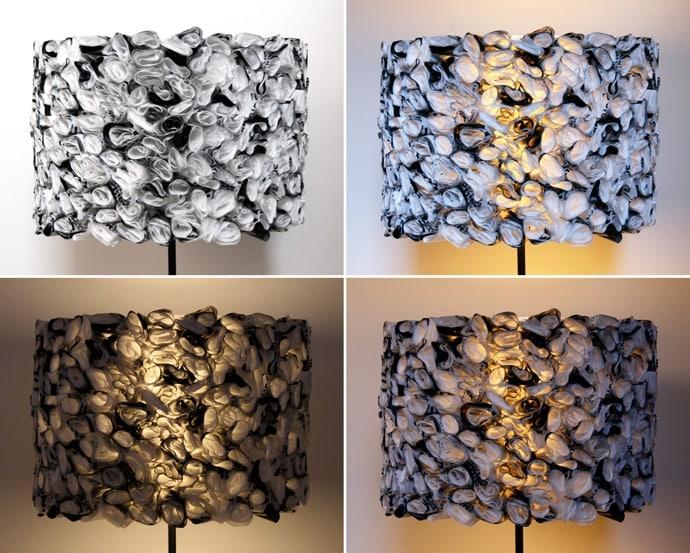 Con i sacchetti di plastica si possono creare delle lampade