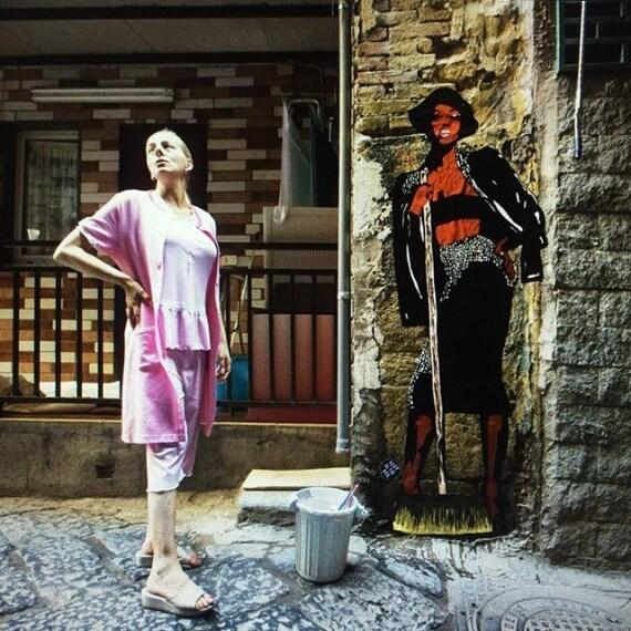 Naomi Campbell in versione massaia