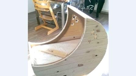Come realizzare una culla a forma di luna utilizzando solo del legno