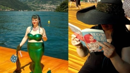 Samantha, la curvy che sfila sulla passerella di Christo vestita da sirenetta