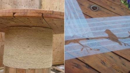 Prende delle bobine di legno e realizza qualcosa di molto utile per il giardino