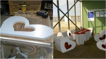 Come costruire una sedia in legno a forma di cuore: un'originale idea fai da te