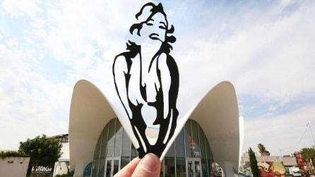 Un artista trasforma i monumenti famosi in scene animate: ecco le foto