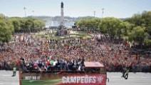 Lisbona, il Portogallo rientra da Campione d'Europa