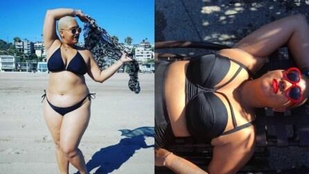 Si vergognava per qualche chilo di troppo: indossa un bikini per la prima volta in 20 anni