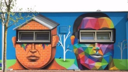 Da scuola anonima a capolavoro di street art: ecco la trasformazione ad Arcugnano