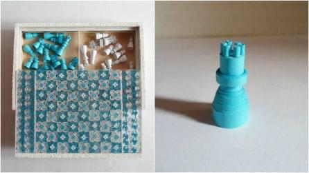 Realizza una scacchiera con materiale riciclato: ciò che ha usato vi stupirà