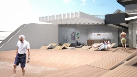 Questo super yacht ha tutto quello che un miliardario desidera, anche una spiaggia privata