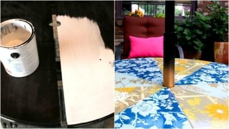 Tavolo da giardino di design: un'idea fai da te di grande effetto