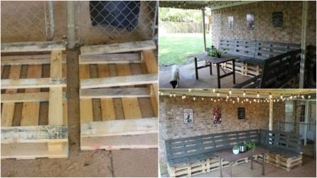 Come arredare una veranda con i pallet: un riciclo semplice e creativo