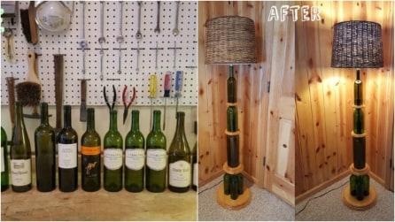 Come riciclare le bottiglie di vetro e realizzare una lampada davvero originale
