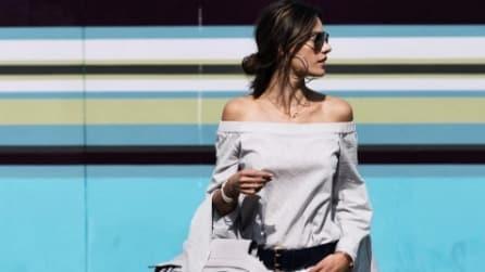 Off shoulder, la nuova moda che spopola tra le star