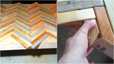 Posiziona i pannelli di legno in questo modo: ciò che crea vi sorprenderà