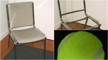 Prende le palline da tennis e una vecchia sedia: ciò che crea vi stupirà