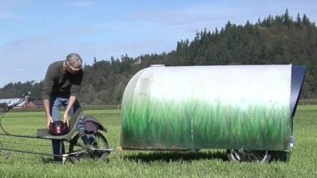 Non è un semplice rimorchio ma una vera casa mobile