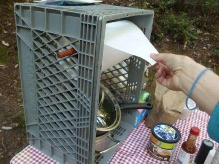 Idea utile per portare tutto l'occorrente in campeggio