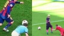 Messi mette a sedere di nuovo Milner: dai tempi di Barcellona- Manchester City è cambiato solo il look