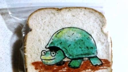 Un papà davvero creativo: ecco cosa fa ogni giorno con il sacchetto del pranzo di suo figlio