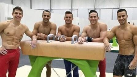 Gli atleti maschili di ginnastica artistica: la squadra americana