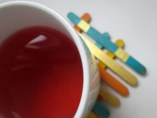 Per un tocco di colore, mentre si sorseggia una bevanda calda.