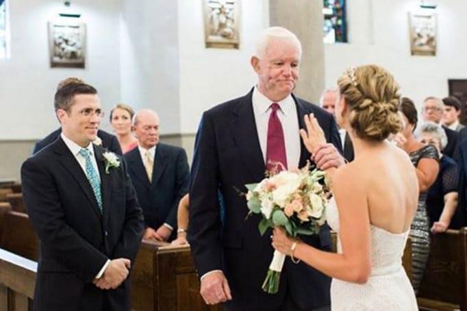 Jeni e Thomas il giorno del matrimonio