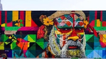 È il murale più grande del mondo: mai vista un'opera simile prima