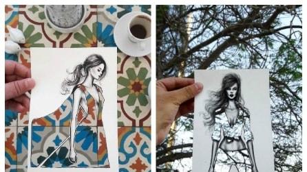 Le modelle di Shamekh Bluwi: quando la moda si ispira alla realtà
