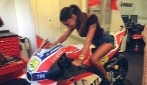 Anche Belen al Red Bull Ring per tifare Iannone