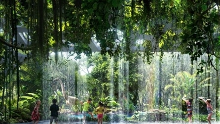All'interno dell'unico hotel al mondo con una foresta tropicale