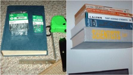 Come riciclare un vecchio libro e costruire uno scaffale: un'idea originale