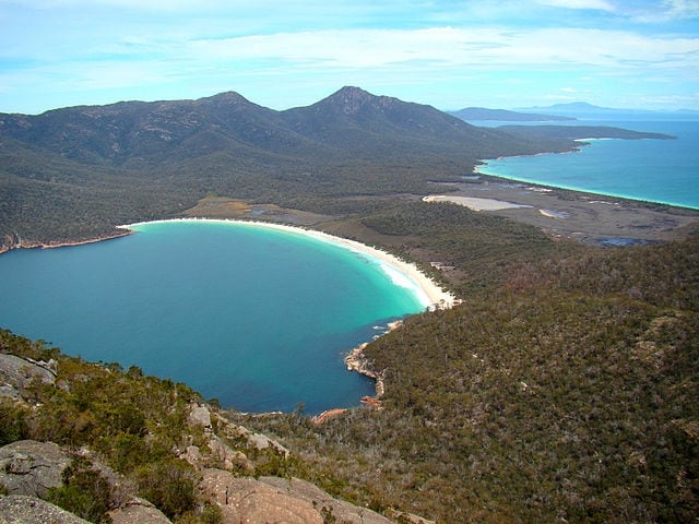https://commons.wikimedia.org/wiki/File:Freycinet_Wineglass_Bay_And_Promise_Bay.jpg
