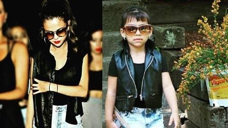 Sophia, la bimba di 5 anni che imita i look delle star
