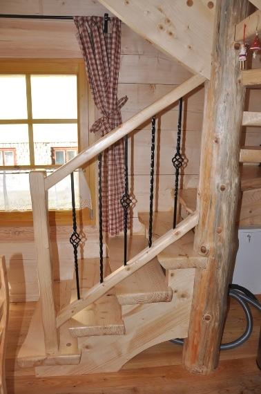 La scala di accesso alle camere