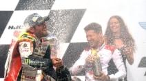 MotoGp, prima vittoria per Crutchlow a Brno. Rossi e Marquez sul podio