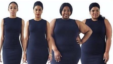 Fotografa lo stesso abito su modelle con corpi diversi: il motivo conquisterà tutte