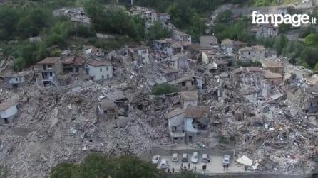 11 immagini prima e dopo il terremoto nel Centro Italia