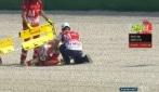 Iannone a Misano, foto sequenza della caduta