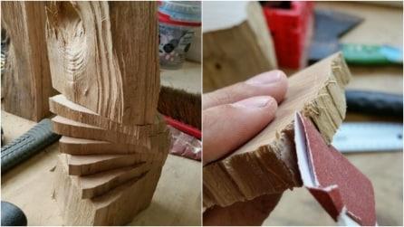 Come trasformare un ceppo di legno in un oggetto di design: il risultato vi stupirà