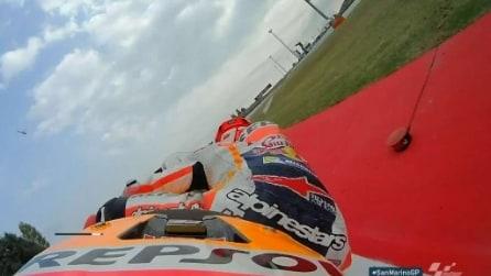 MotoGP Misano, Marquez scivola nel warm up