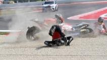Misano: caduta al via della gara di Moto2. Coinvolti Simeon e Pons