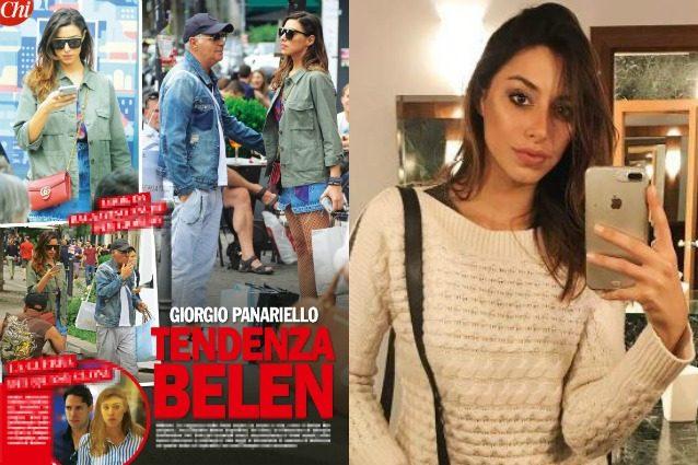 'Chi' ha immortalato Giorgio Panariello in giro per Milano, con la fidanzata Claudia Capellini. Il settimanale ha sottolineato la somiglianza tra la modella e Belén Rodriguez.