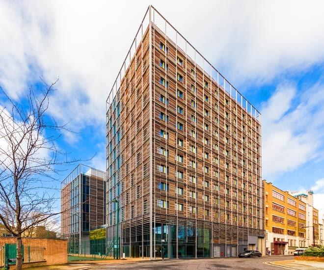 Più che una residenza studentesca questa struttura di alloggi a Waterloo sembra un condominio di lusso.